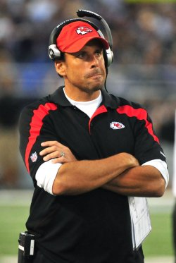 Chiefs Head coach Todd Haley in Baltimore