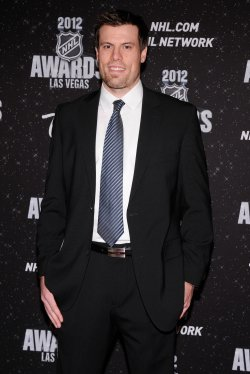 Shea Weber arrives at the 2012 NHL Awards in Las Vegas