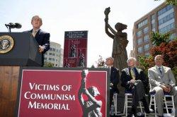 BUSH DEDICATES VICTIMS OF COMMUNISM MEMORIAL IN WASHINGTON