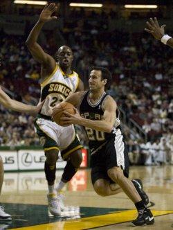 San Antonio Spurs vs Seattle Supersonics