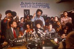 Angela Davis holds press conference