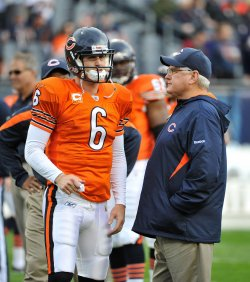 Bears Cutler and Martz talk in Chicago