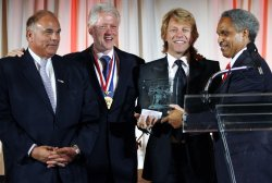 ROCK SINGER BON JOVI RECEIVES PHILADELPHIA AWARD