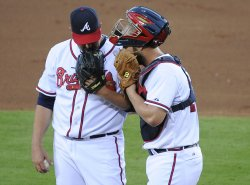 The Atlanta Braves play the St. Louis Cardinals