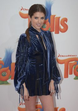 "Anna Kendrick attends the ""Trolls"" premiere in Los Angeles"