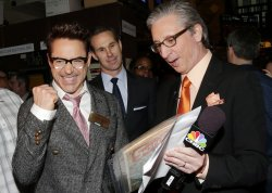 Robert Downey Jr. at the NYSE