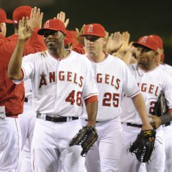 Los Angeles Angels vs Kansas City Royals in Anaheim, California