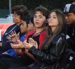 Michael Jackson's children participate in hand & footprint ceremony in Los Angeles