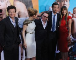"Jason Bateman, Leslie Mann, David Dobkins, Ryan Reynolds and Olivia Wilde attend the premiere of ""The Change-Up"" in Los Angeles"