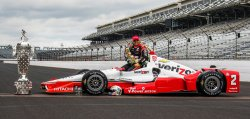 Juan Pablo Montoya becomes a two time winner at the Indianapolis Motor Speedway