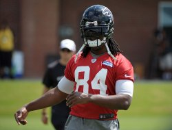 The Atlanta Falcons begin their 2013 training camp at the team's headquarters in Flowery Branch, Ga.