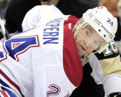 Montreal Canadiens Jeff Halpern in Pittsburgh