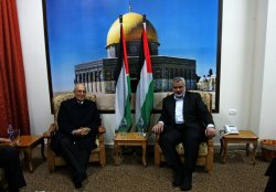 Leaders of Hamas and Fatah meet in Gaza