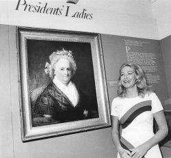 Joan Kennedy visits Plymouth for historic women art exhibit