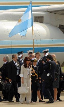 Argentina's President Cristina Fernandez de Kirchner arrives for the G20 Pittsburgh Summit