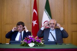 Iranian FM holds a joint press conference with Turkish FM in Tehran