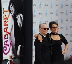 "Joel Grey and Jennifer Grey attend the 40th anniversary restoration premiere of ""Cabaret"" in Los Angeles"