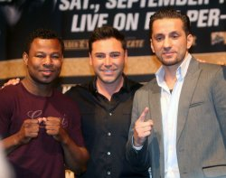 Sugar Shane Mosley and Sergio Mora announce their fight at Staples Center September 18, 2010