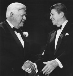 President Reagan Greets House Speaker Thomas O'Neill