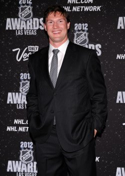 Shane Doan arrives at the 2012 NHL Awards in Las Vegas