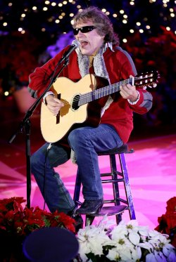 Jose Feliciano performs at Rockefeller Center Christmas tree lighting ceremony in New York