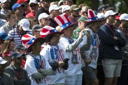 USA fans during a Ryder Cup Practice Round