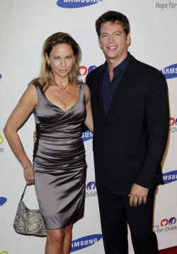 Harry Connick Jr. and Jill Goodacre arrive at the Samsung Hope for Children gala at Cipriani on Wall Street in New York