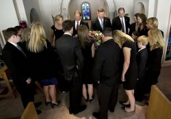 Funeral for Betty Ford in Palm Desert, California