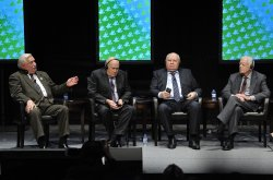 Walesa, de Klerk, Gorbachev and Carter participate in Panel Discussion at Peace Summit in Chicago