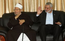 Sheikh Yusuf al-Qaradawi, Chairman of the International Union of Muslim Scholars, Visit to Gaza.