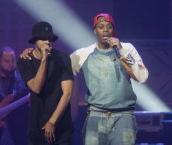 Kardinal Offishal performs during the 2014 Vancouver We Day at Roger's Arena