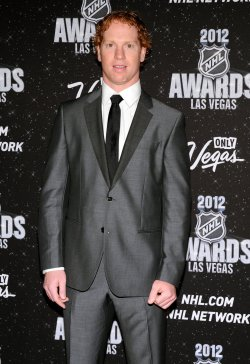 Brian Campbel arrives at the 2012 NHL Awards in Las Vegas