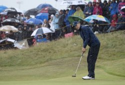Jordan Spieth in action at The Open Championship 2017