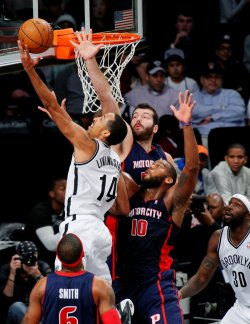 Nets vs Pistons at Barclays Center