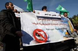 Palestinians Protest Against President-elect Donald Trump to Move the US Embassy in Israel to Jerusalem.
