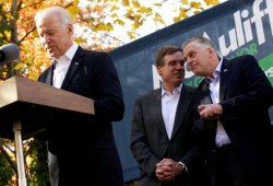 Vice President Joe Biden campaigns with Terry McAuliffe