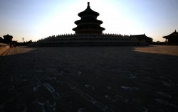 Chinese visit the Temple of Heaven in Beijing