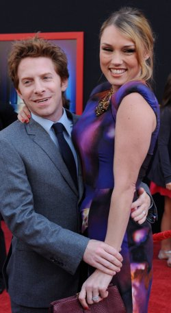 """Seth Green and Clare Grant attend the """"Mars Needs Moms"""" premiere in Los Angeles"""
