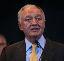 Ken Livingstone speaks to the media at the London Mayoral Election