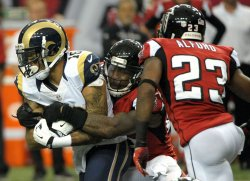 The Atlanta Falcons play the St. Louis Rams