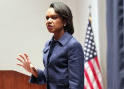 Former Secretary of State Condoleezza Rice visits Scott Air Force Base