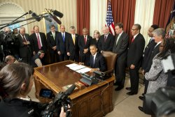 President Barack Obama signs a proclamation to designate Ft. Monroe a National Monument in Washington