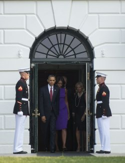 President Obama Observes a Moment of Silence for 9/11 in Washington, DC
