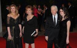 Arianna Huffington, Joy Behar, Bill Maher and girlfriend Cara Santa Maria arrive at the White House Correspondents Dinner in Washington