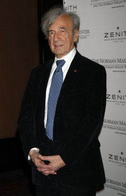 Elie Wiesel arrives for the Norman Mailer Center's Third Annual Benefit Gala in New York