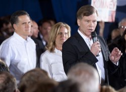 Presidential candidate Mitt Romney holds a campaign rally in North Greenville, South Carolina