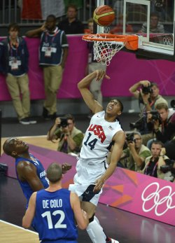 USA-France men's basketball at 2012 Summer Olympics in London