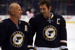St. Louis Blues Keith Tkachuk and Eric Brewer