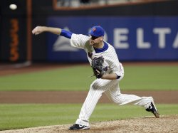 New York Mets starting pitcher Mike Pelfrey throws a pitch at Citi Field in New York