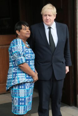 Boris Johnson and Doreen Lawrence at Stephen Lawrence Memorial Service